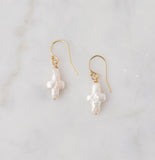 Charity Freshwater Pearl Cross Earrings