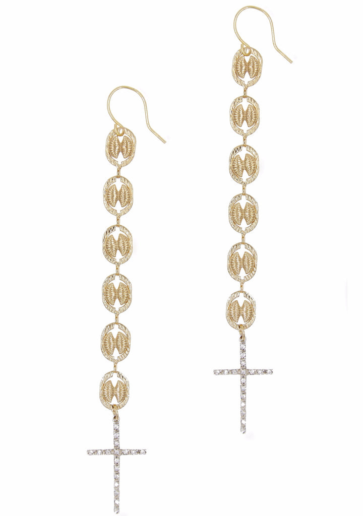 Via Rosa Cross Earring