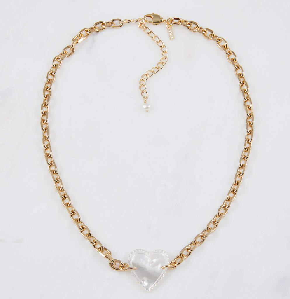 """Femi"" Vintage Mother of Pearl Necklace"