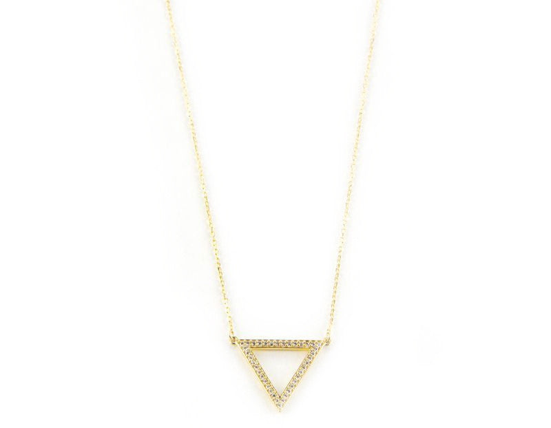 Bermuda Triangle Necklace, Gold