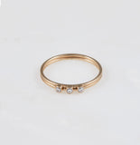 Gio 3 Cz Stacking Ring