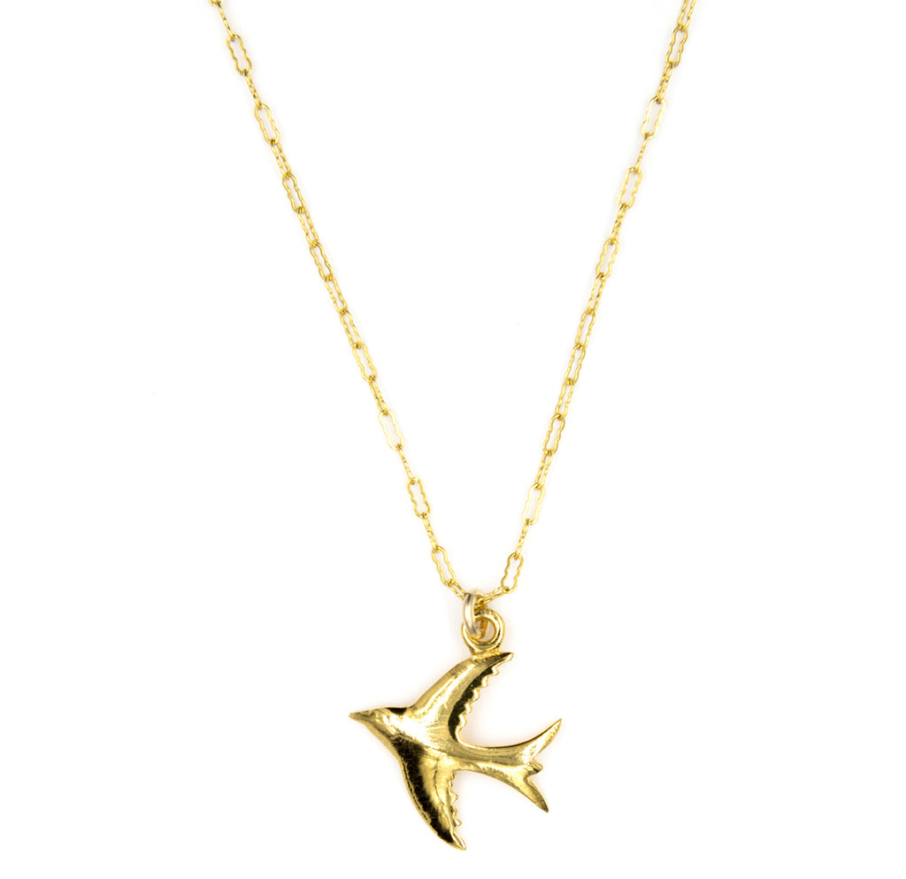 Soaring Bird Charm Necklace