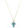 Vanessa Cross Necklace, Turquoise