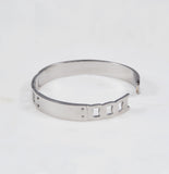 Greer ID Chain Bangle, Rhodium