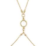 Gold Hot Bod Body Chain, Freshwater Pearl