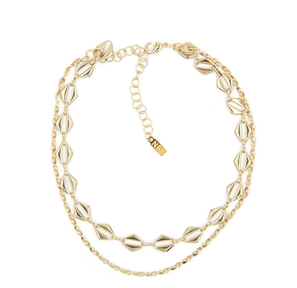 harlem necklace gold $ 90 00 feel flashy in textured metals 24kt gold ...