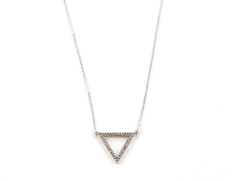 Bermuda Triangle Necklace, Silver