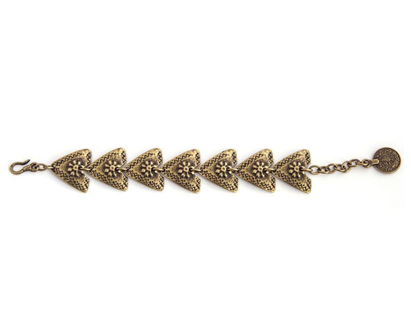 Wild Arrows Bracelet, Brass