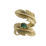 Light as a Feather Brass Ring, Emerald