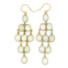 Rain Drop Chandelier Hook Earrings, Lime Chalcedony