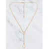 Lucia Rosary Lariat Necklace, White