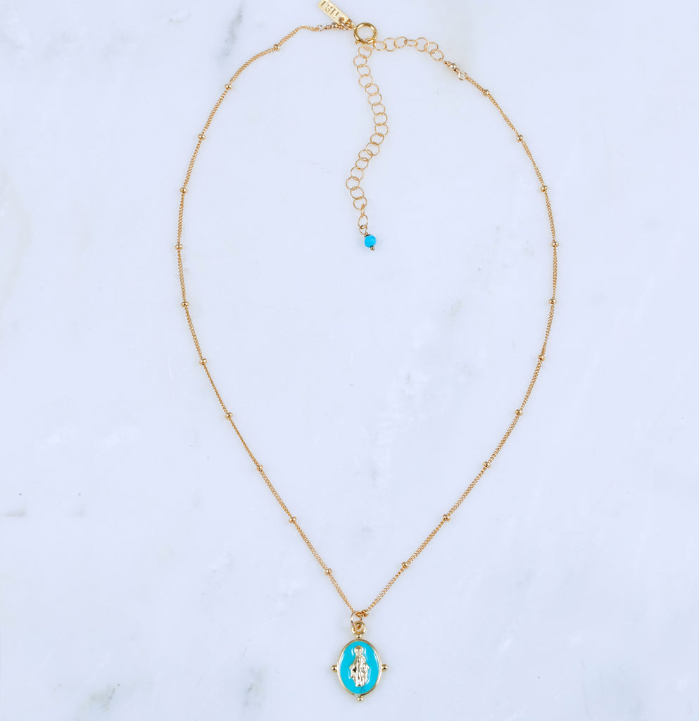Lucia Pendant Necklace, Turquoise