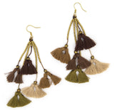 Dara Tassel Earrings, Safari