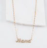 Mama Cz Necklace, Gold
