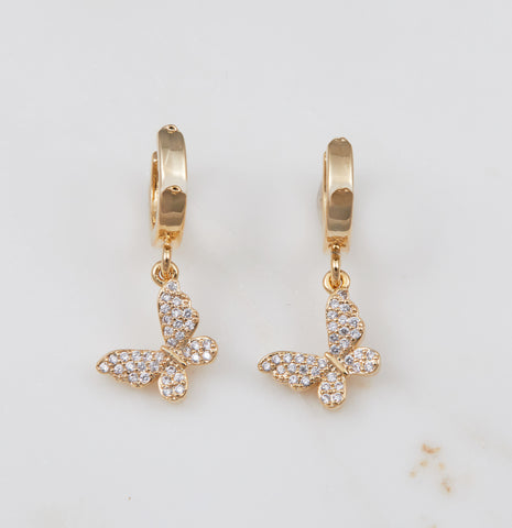 Tova Double Earring - Silver, Clear CZ