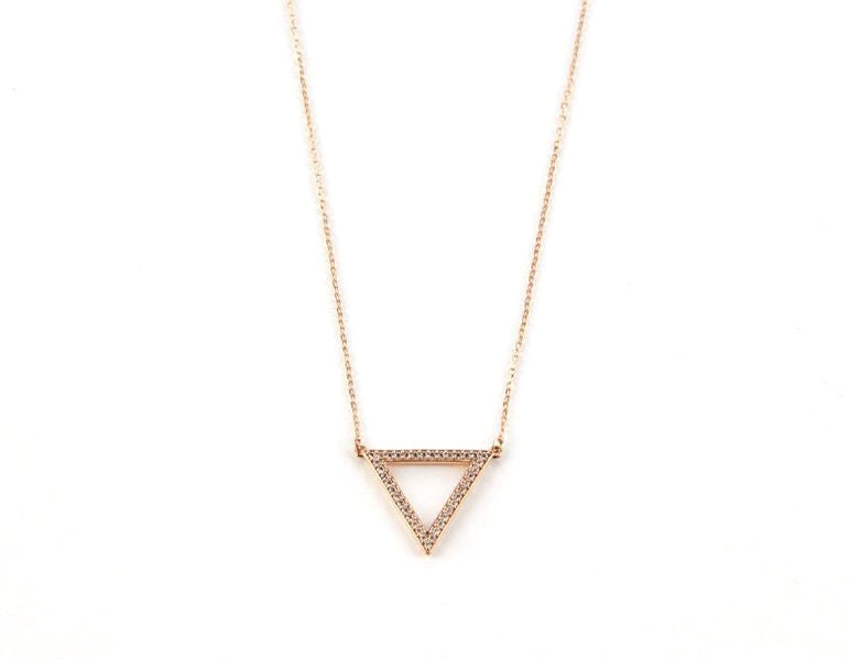 Bermuda Triangle Necklace, Rose Gold