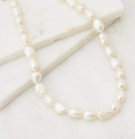Baby Boho Freshwater Pearl Layering Necklace, Gold