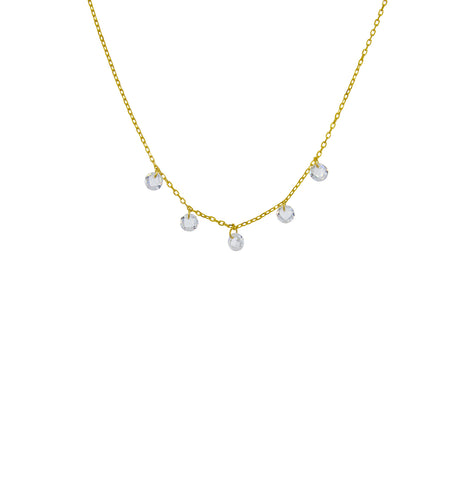Dea Opal Gold Drop Choker