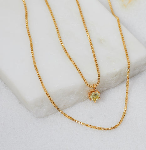 Petit Gateau Necklace, Gold
