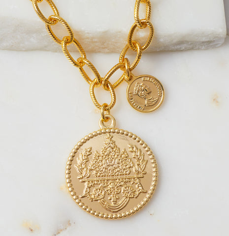 Protector Reversible Coin Necklace