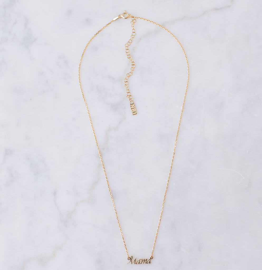 Mama Necklace, Gold