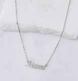 Mama Necklace, Silver