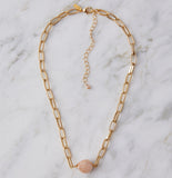 Poppy, Blush Baroque Necklace