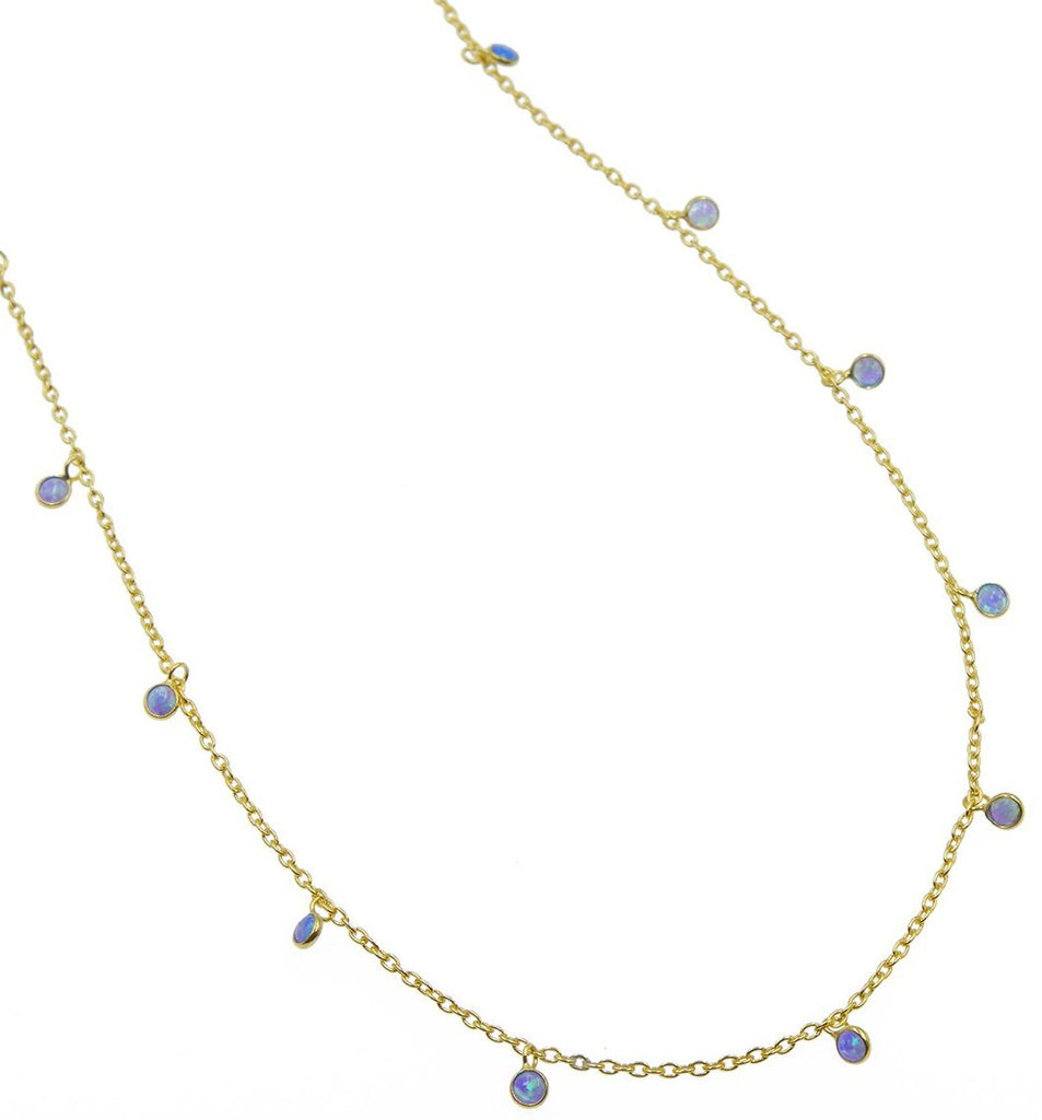 Dea Blue Opal Drop Choker