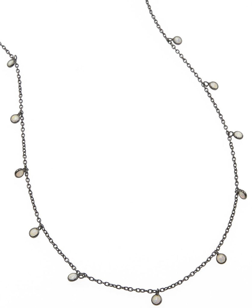 Dea Opal Dark Rhodium Drop Choker