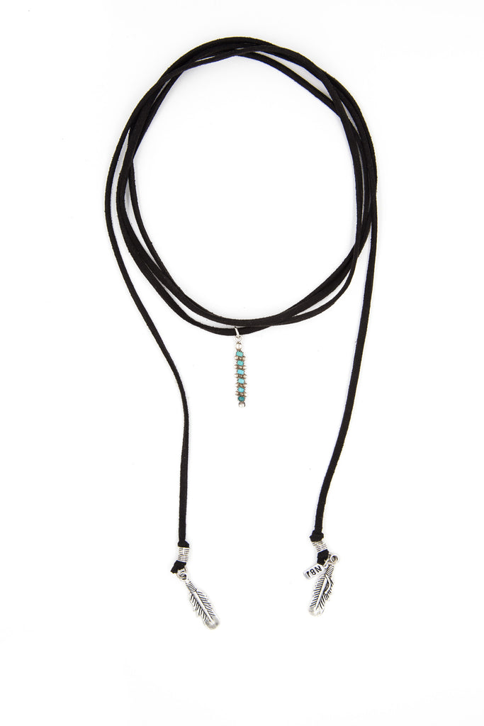 Black Vintage Roadie, Turquoise Bar II