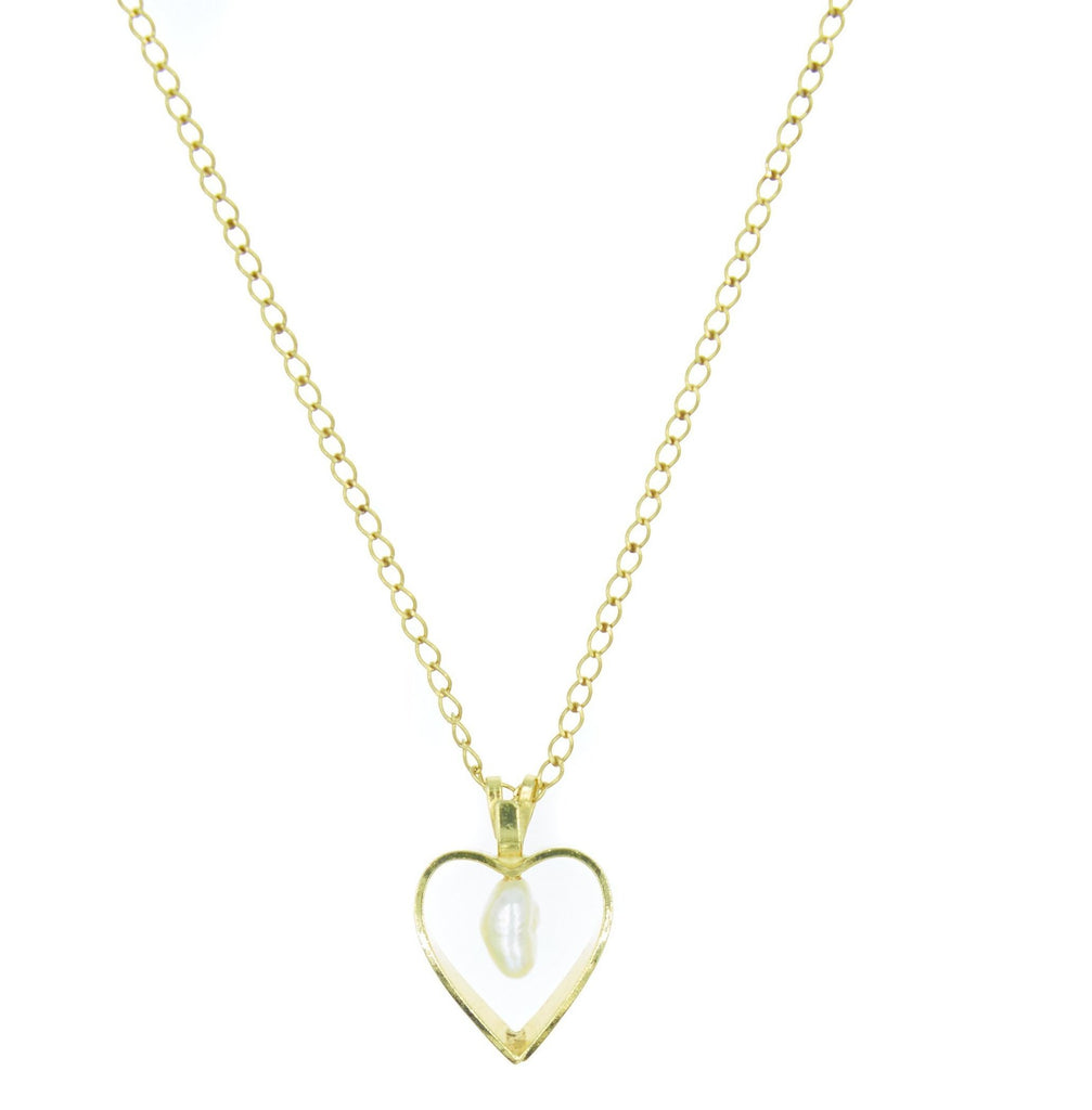 Dainty Open Heart Vintage Charm Necklace