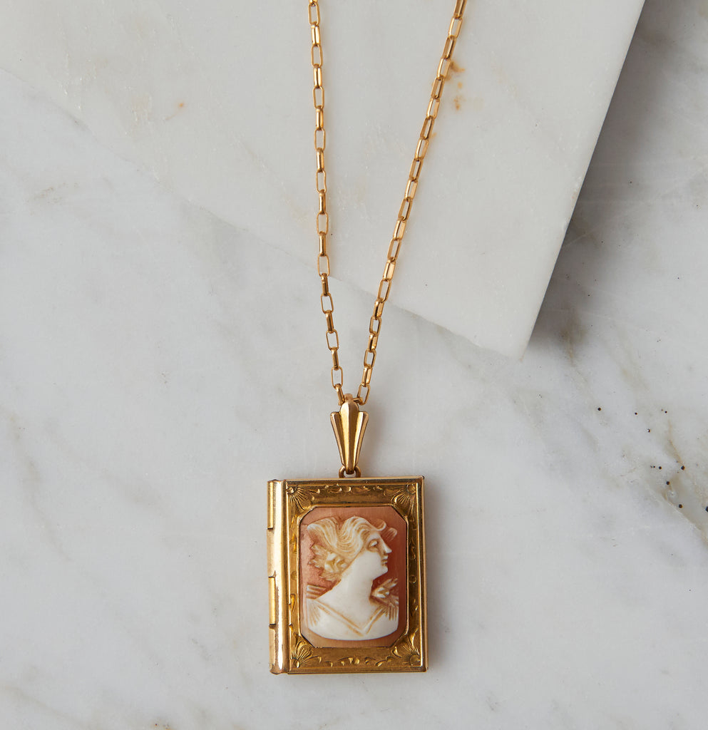 Adeline Vintage Cameo Necklace