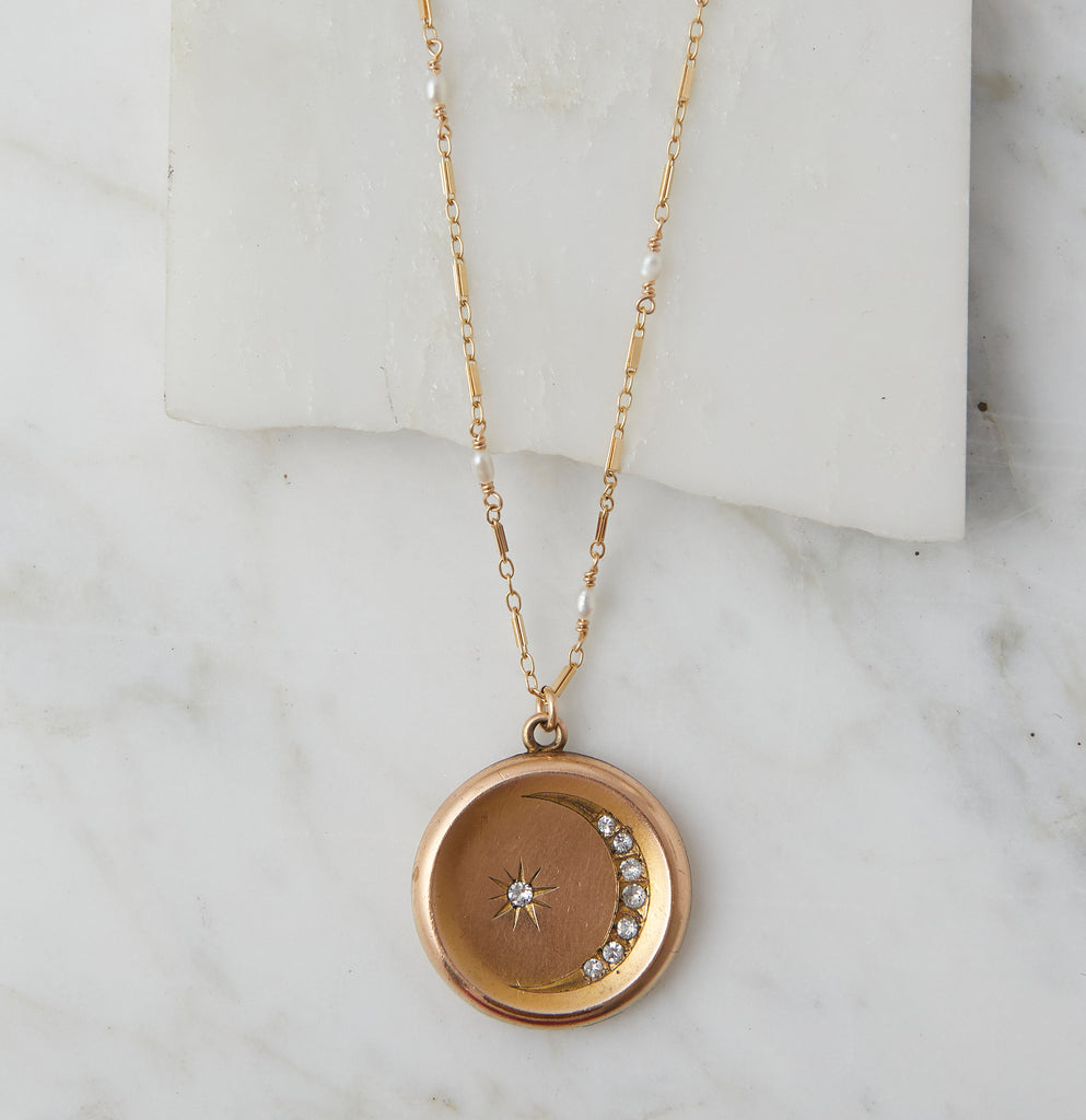 Agnes Moon & Star Victorian Locket