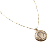 Lady Luck Victorian Round Horseshoe Locket