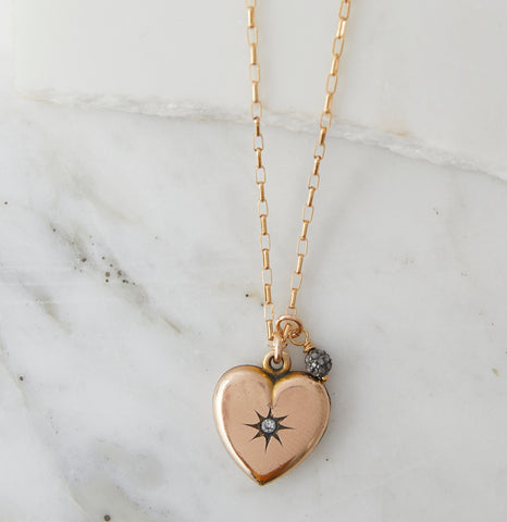 Amour Charm Necklace, Gold