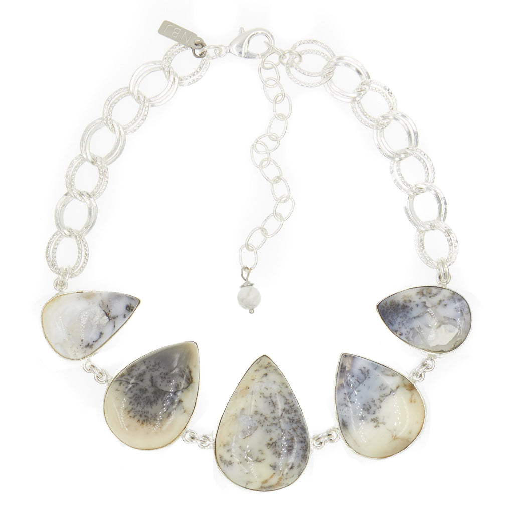 Earth's Treasure Choker, Dendritic Opal Triangle Stone