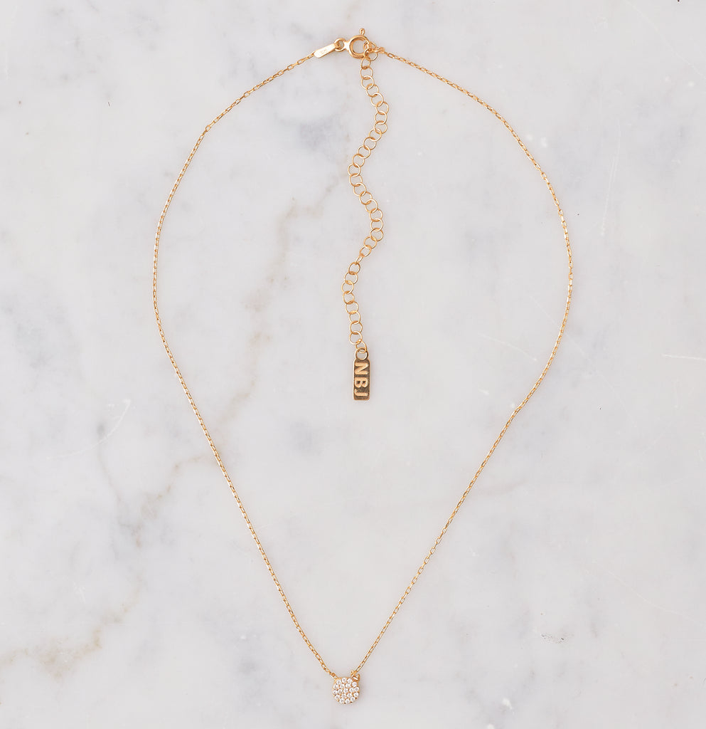 Iris Small Disc Choker, Gold
