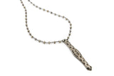 Thea Vintage Pave Bar Necklace I