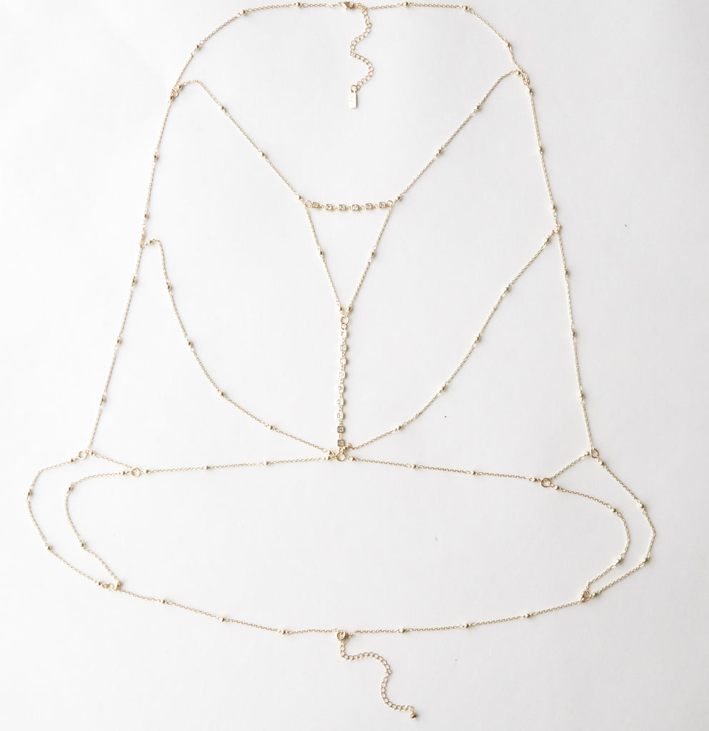 Madison Ave Bralette, Gold