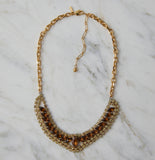 Ingrid Vintage Two Tone Rhinestone Necklace