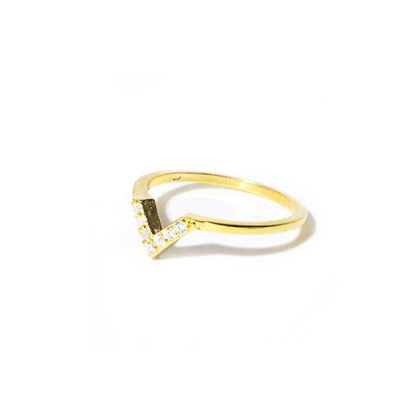 Baby V Pinky - Midi Ring, Gold
