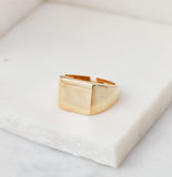 Midnight Signet Ring, Gold