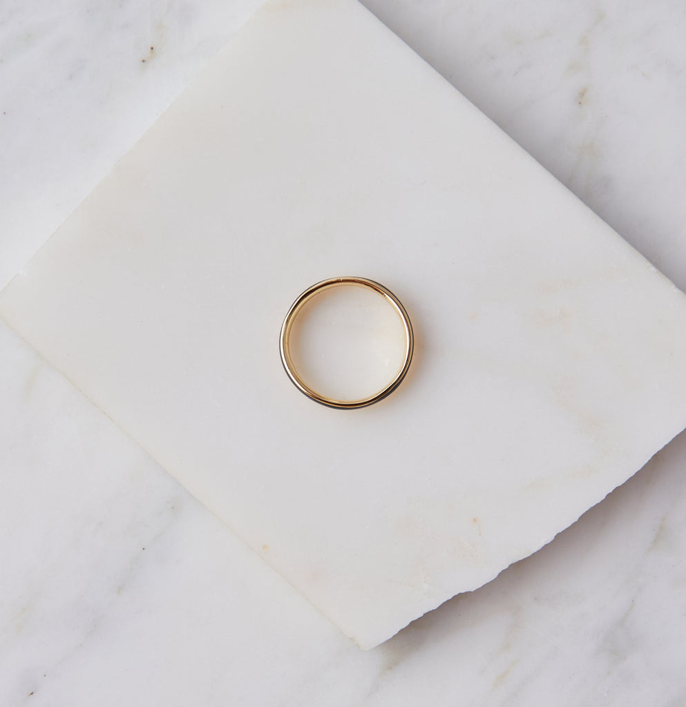 Flynn Enamel Stacking Ring, Black Enamel