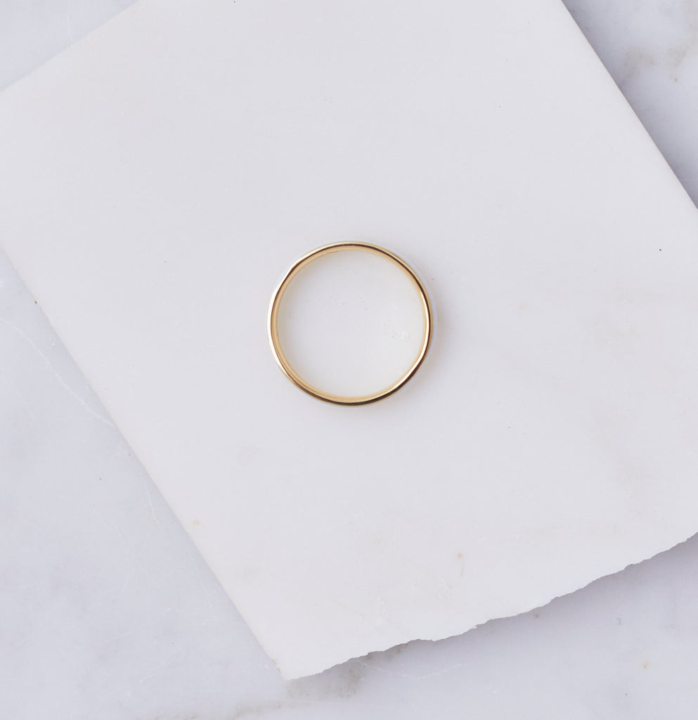 Flynn Enamel Stacking Ring, White Enamel