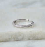 Sia Stacking Ring, Silver
