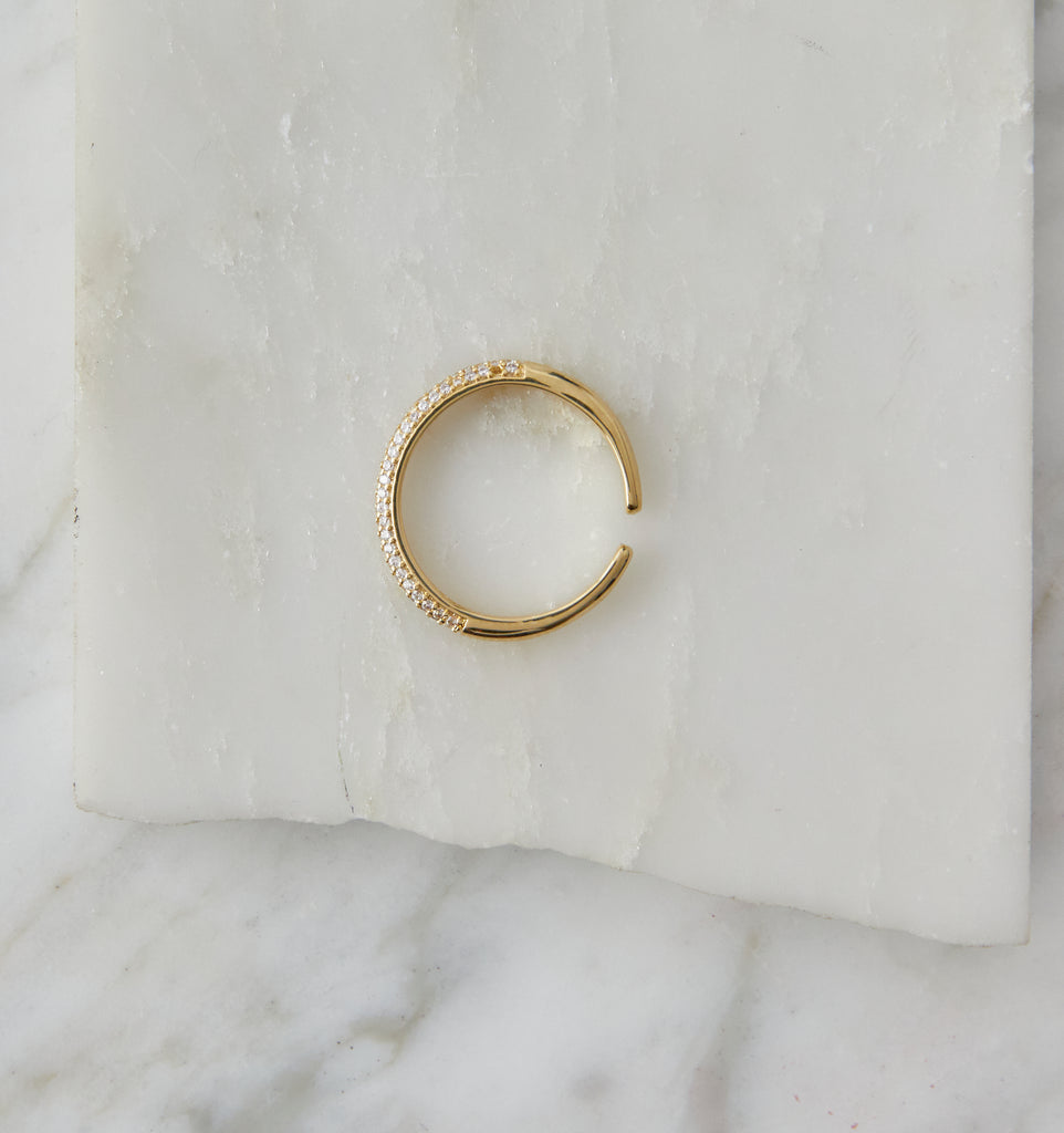 Sia Stacking Ring, Gold