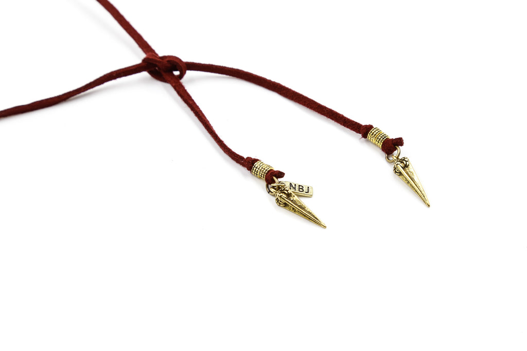 Scarlet Roadie Wrap Choker, Gold