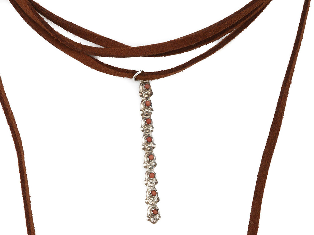 Coral Sunset Roadie Wrap Choker