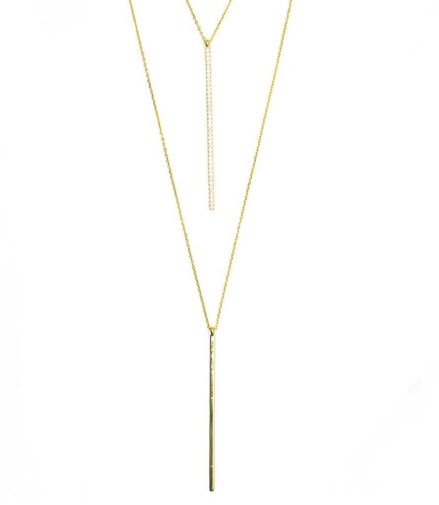 Straight Away Necklace, Gold