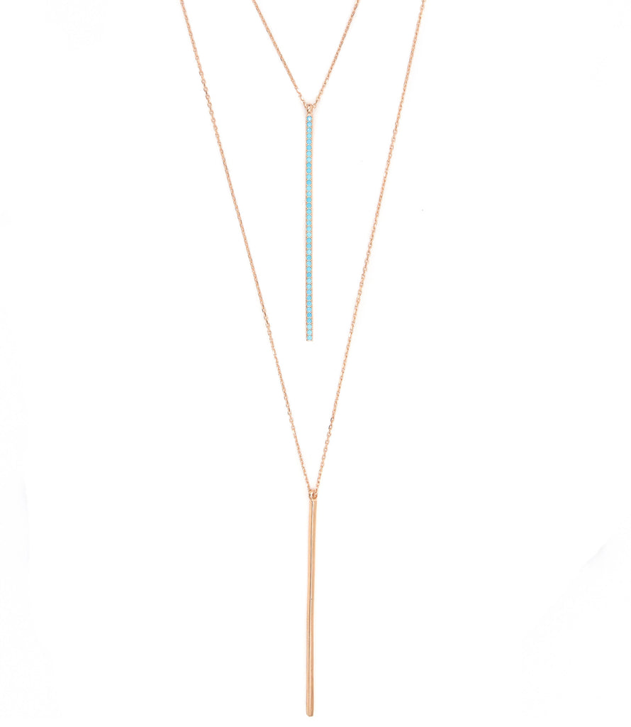 Straight Away Necklace, Rose Gold